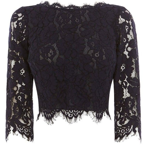 Coast Sardinia Lace Top Navy Navy Blue Lace Top Floral Lace Tops Lace Crop Tops