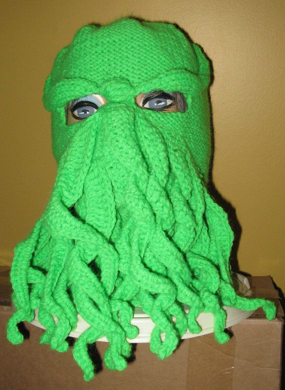 Pattern Cthulhu Ski Mask Pattern Knit And By