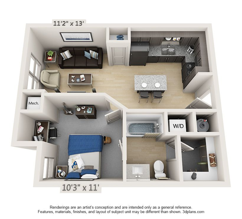 Student Apartments One Bedroom House One Bedroom House Plans