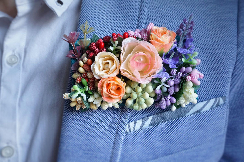 Silk Flower Corsage/Boutonnieres, Rectangular Wedding Corsage,Rectangular Wedding Boutonniere, Wedding Floral by LArtDEva on Etsy