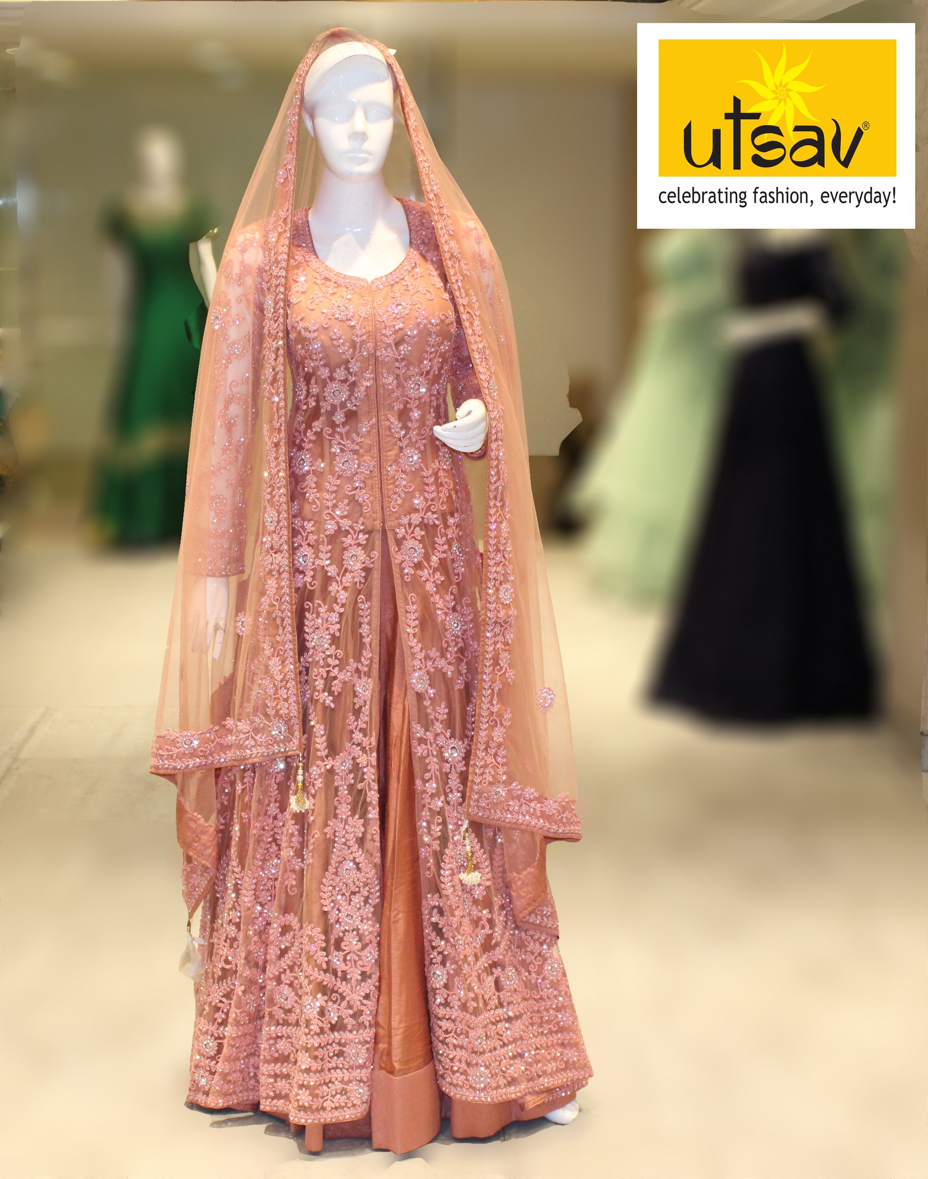 Best Arabic Lacha Collection In Kerala Indian Bridal Outfits Bridal Outfits Saree Designs