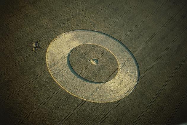 Yann Arthus-Bertrand -  Crop circle, Wiltshire, England.