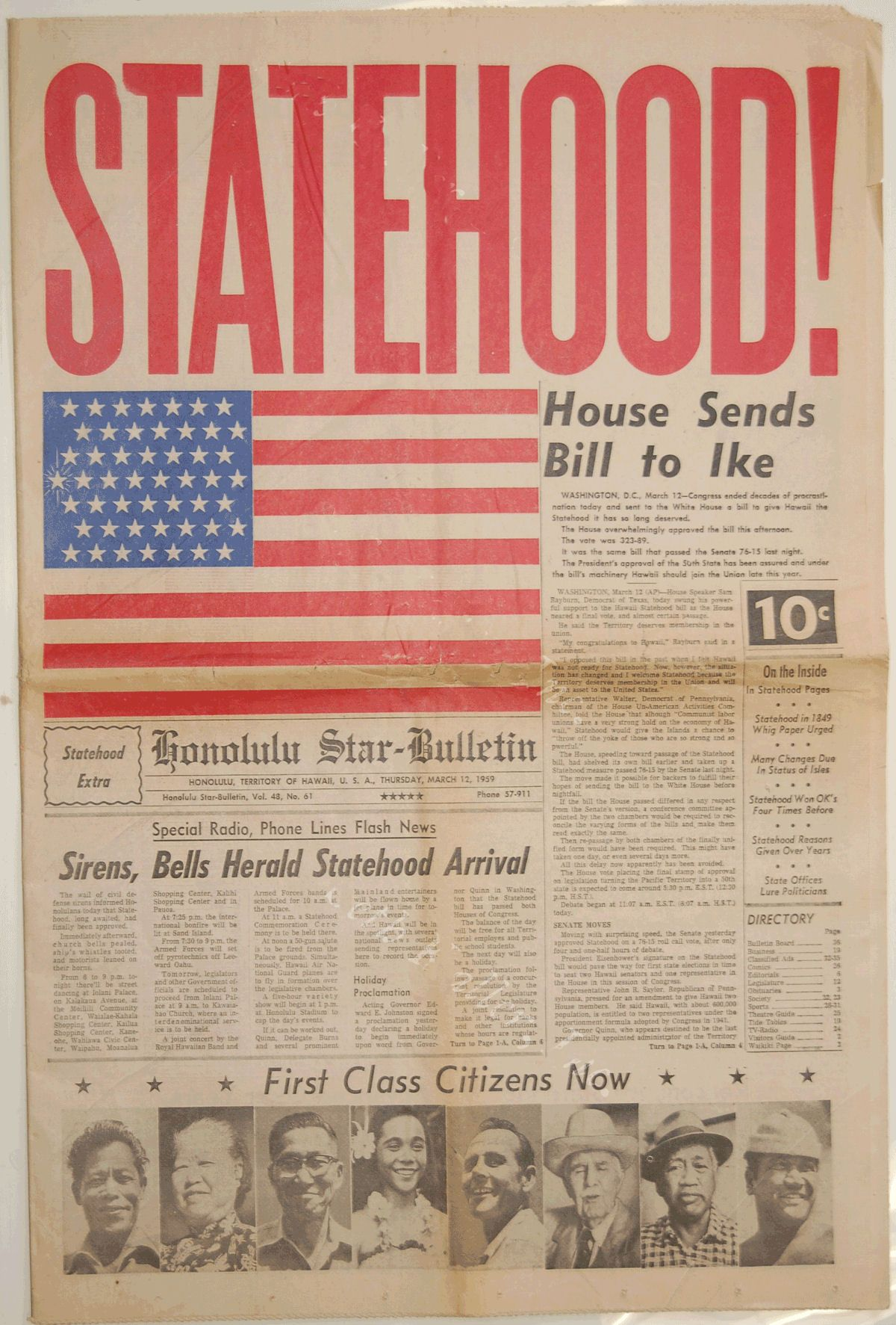 hawaii statehood 50th anniversary