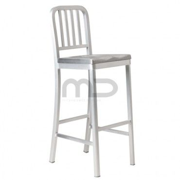 Stupendous Outdoor 179Us Navy Aluminium Barstool Buy Us Navy Bar Gmtry Best Dining Table And Chair Ideas Images Gmtryco