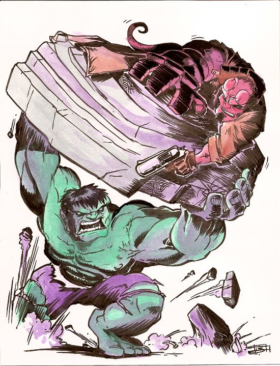 #Hulk #Fan #Art. (Hellboy vs. Hulk) By:Derrickfish. (THE * 3 * STÅR * ÅWARD OF: AW YEAH, IT'S MAJOR ÅWESOMENESS!!!™)[THANK Ü 4 PINNING!!!<·><]<©>ÅÅÅ+(OB4E)