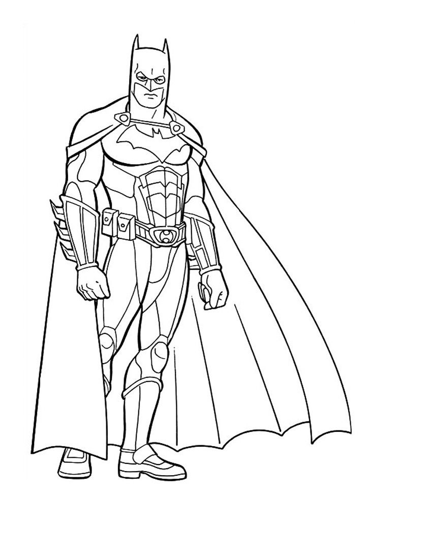 Printable Batman Coloring Only Coloring Pages Superhero Coloring Pages Superhero Coloring Batman Coloring Pages