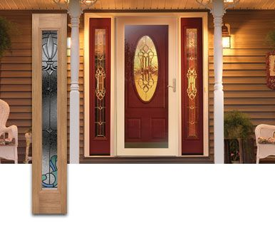 Painted Front Doors With Side Panels Google Search