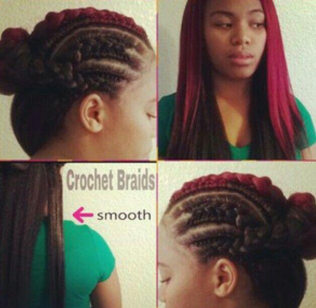 Red straight crochet braids | Crochet Braids Addicted | Pinterest
