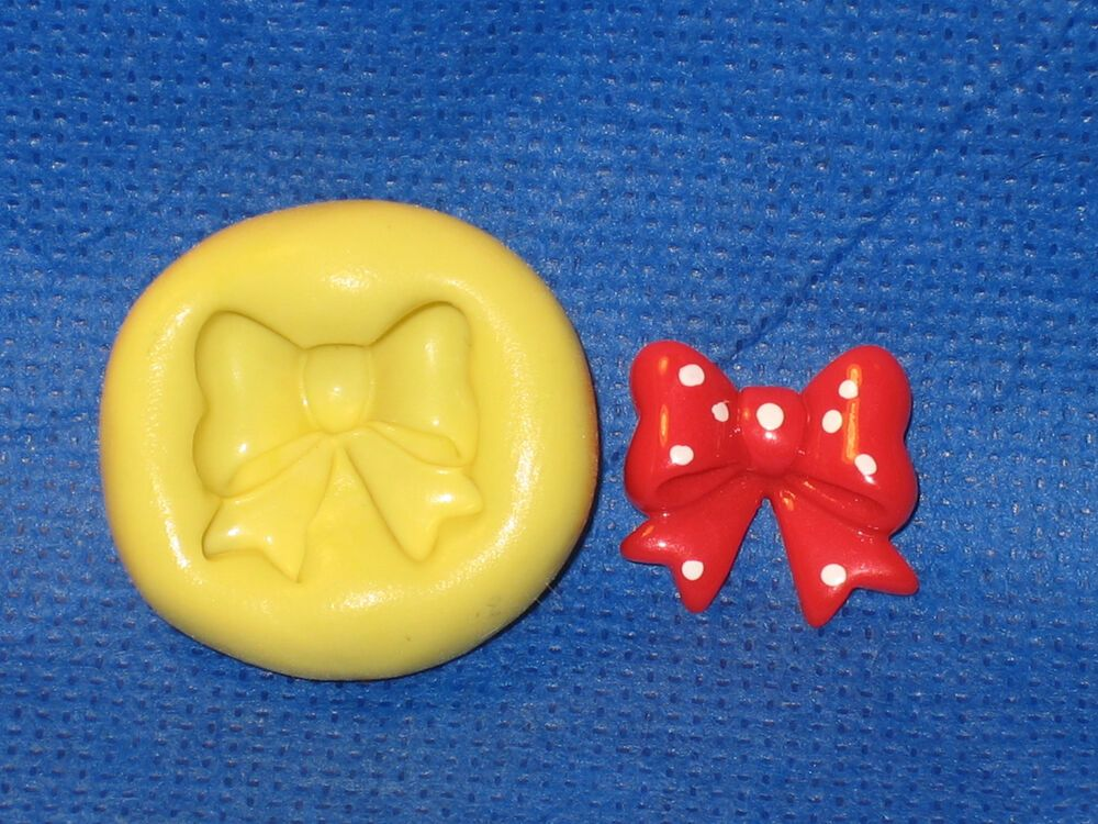 Bow Silicone Push Mold 600 For Cupcake Candy Resin Clay Cake Pop Chocolate Craft