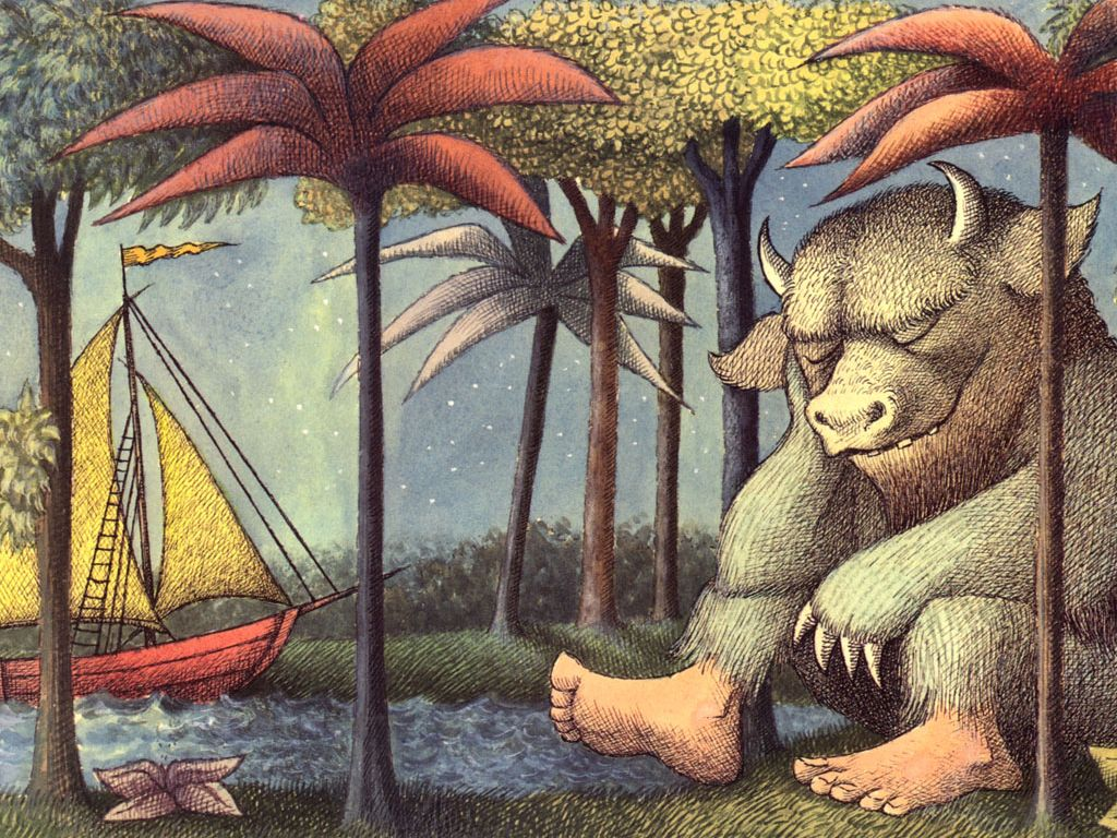 Where The Wild Things Are Desktop Wallpaper Classic Childrens