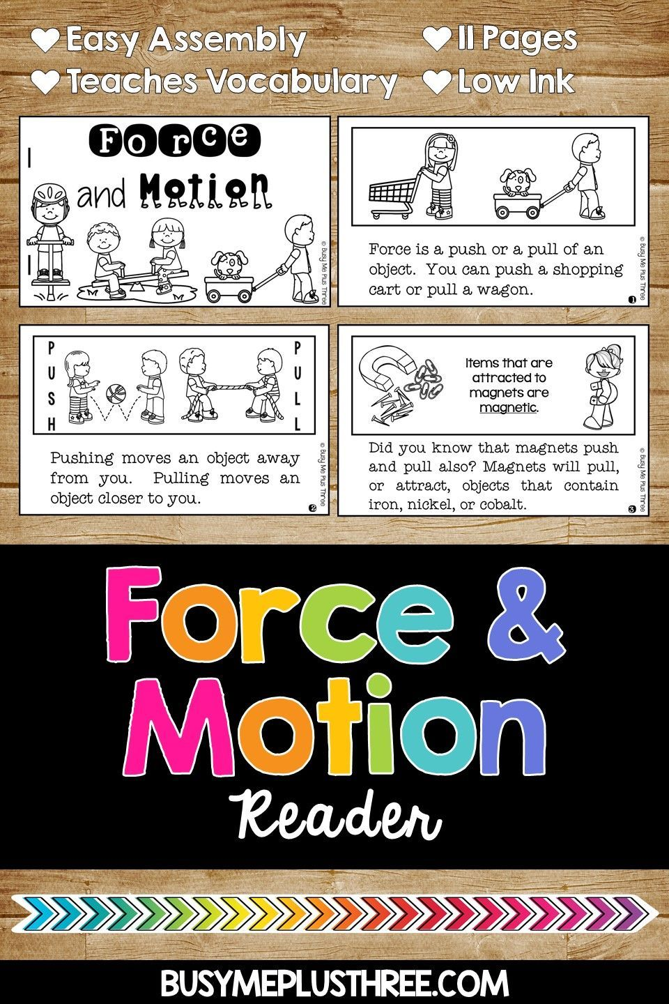 Force And Motion Worksheets Science Experiments Interactive Notebook Activities Force And Motion Interactive Notebook Activities Fun Worksheets For Kids [ 1440 x 960 Pixel ]