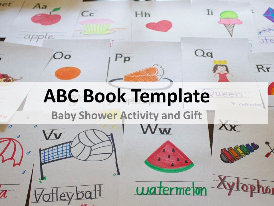 photo relating to Printable Abc Book Template named Pin upon Child Shower