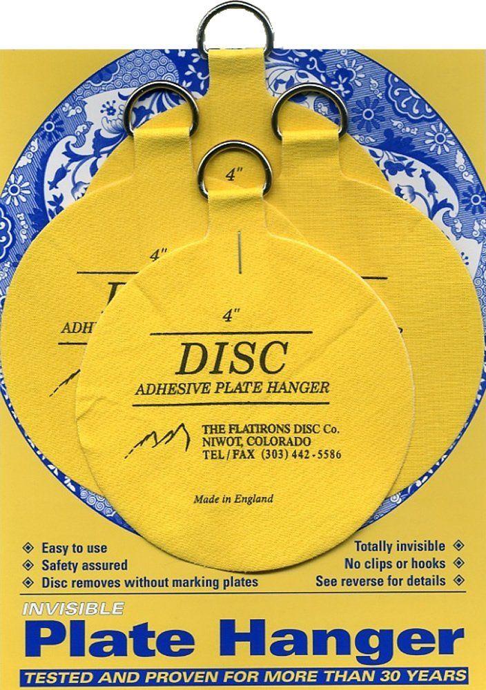 Flatirons Disc Adhesive Large Plate Hanger Set (4 - 4 Inch Hangers) - Picture  sc 1 st  Pinterest & Flatirons Disc Adhesive Large Plate Hanger Set (4 - 4 Inch Hangers ...