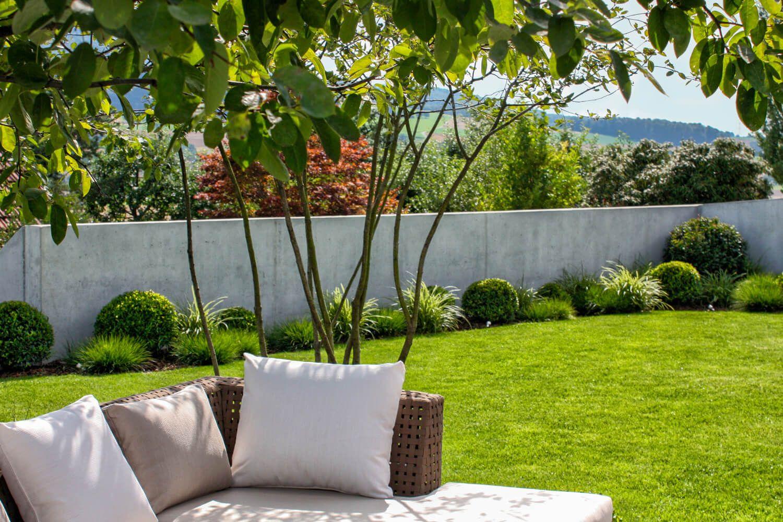 Sichtschutz Aus Beton Moderne Gartengestaltung Parc S