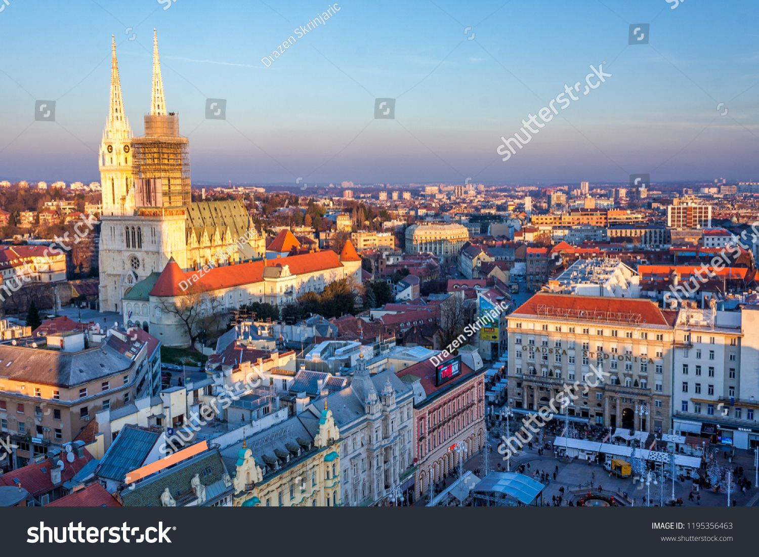 View Of A Main Square In Zagreb Croatia At Advent Time From Abovesquare Main View Zagreb Zagreb Croatia Zagreb Croatia