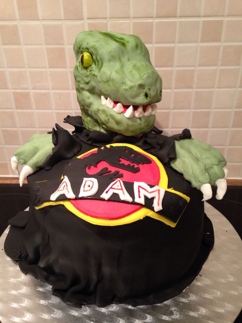 My husbands Jurassic Park cake!