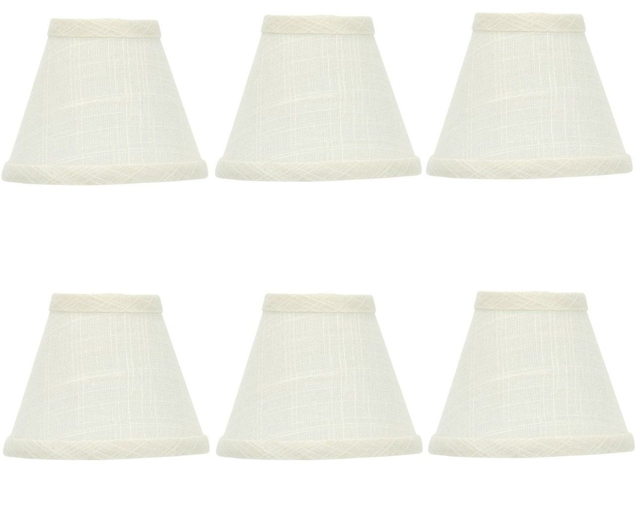 Chandelier Shades Ivory Pleated Fabric Lot of 4 Clip to