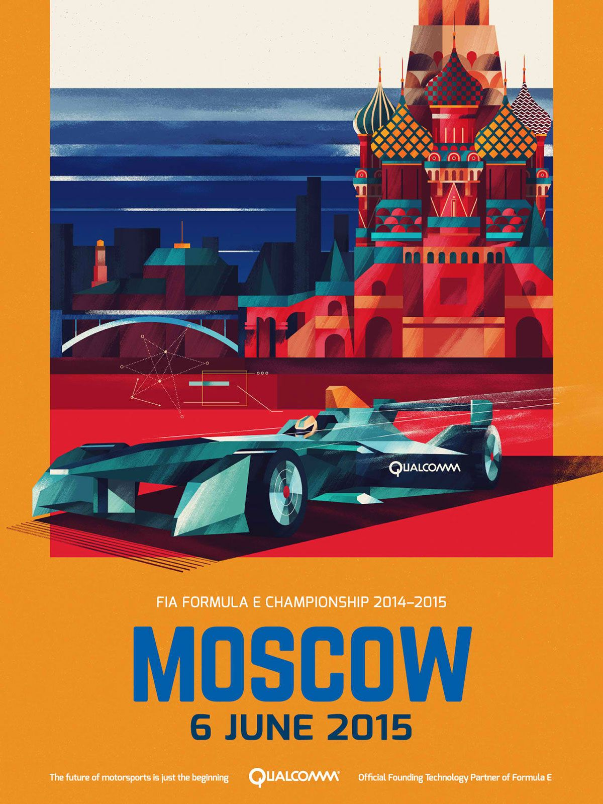 Poster design zeixs - Ip Posters I Worked On The The Illustrations For The Qualcomm Posters Of The Fia Formula E Championship The Design Direction Was To Use The Country S Flag