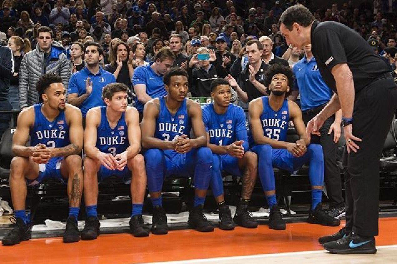 Learning from the master. basketballcoaching Duke