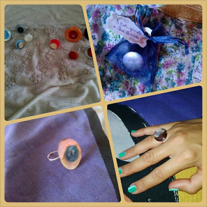 Rings made from buttons!  Www.facebook.com/IfintigioiellidiVeraCarniello