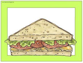 """Englisch in der Grundschule: Flashcards/Wordcards """"Let´s make a sandwich"""""""