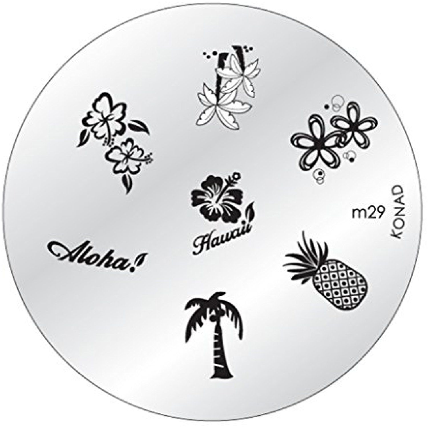 Konad Stamping Nail Art DIY Circle Round Image Plate m29 with One ...
