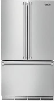 Viking Rvrf336ss 36 Inch Counter Depth French Door Refrigerator With Air Purification Coldzone Drawer Door Open Alarm High Temperature Alarm Self Closing Tr French Door Refrigerator French Door Bottom Freezer Counter Depth