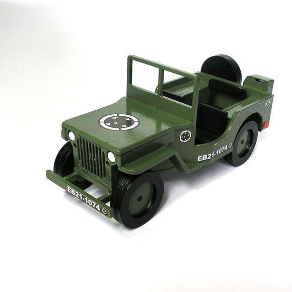 Jeep Do Exercito Em Mdf Rico Em Detalhes Com Decalques Detalhes
