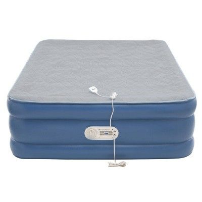 Aerobed Quilted Foam Topper Queen Air Mattress With Built