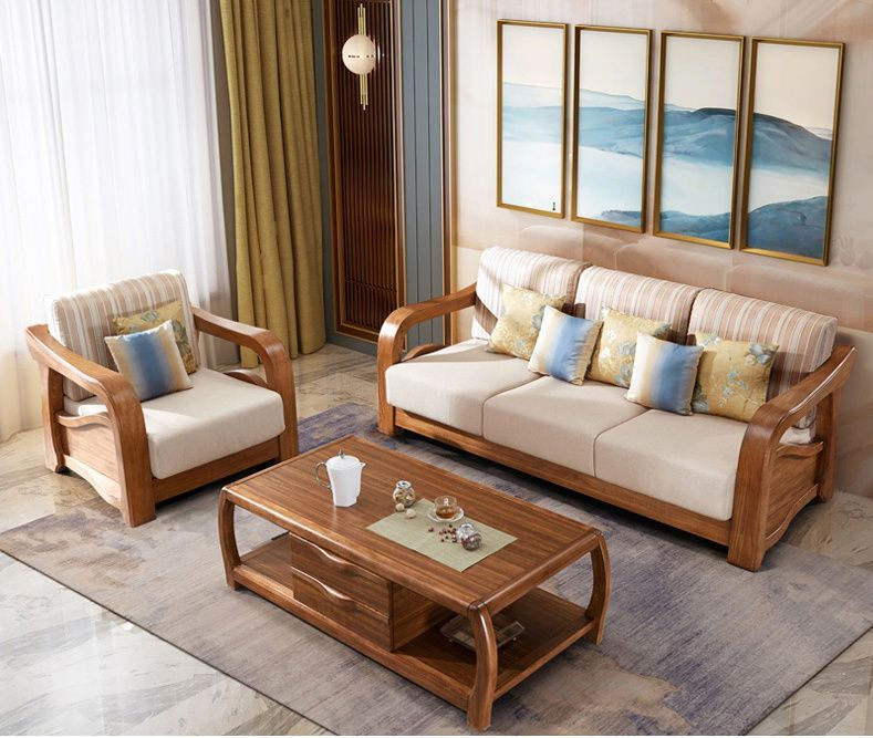 Latest Fabric Sofa Set Living Room Furniture Pictures Of Wooden Sofa Designs C In 2020 Wooden Sofa Designs Living Room Sofa Design Sofa Design Wood