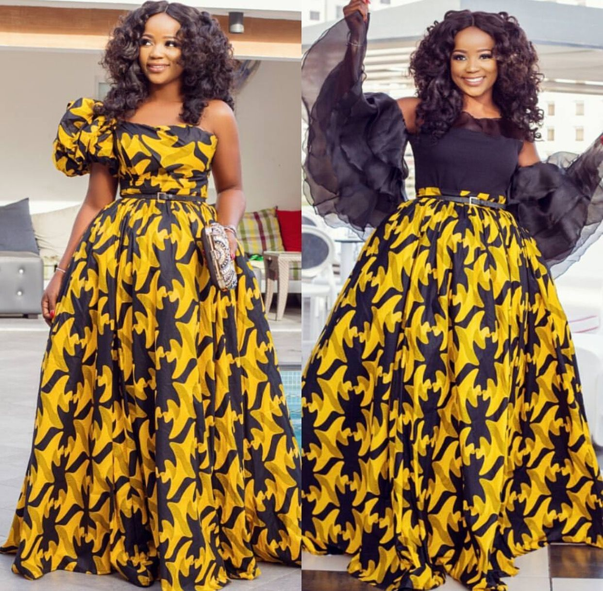 African Fashion Nigerian Formal Ankara Prints Style Dress Women Wedding