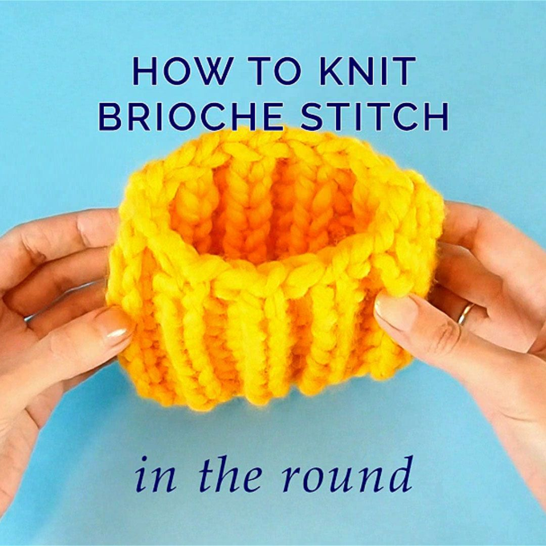Photo of Brioche Stitch in the Round
