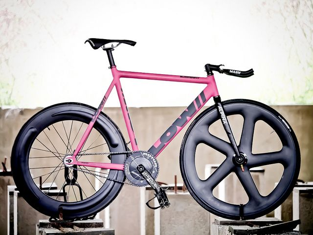 Low Matte Pink Taipei Fixed Gear Bike Singlespeed Bicycle