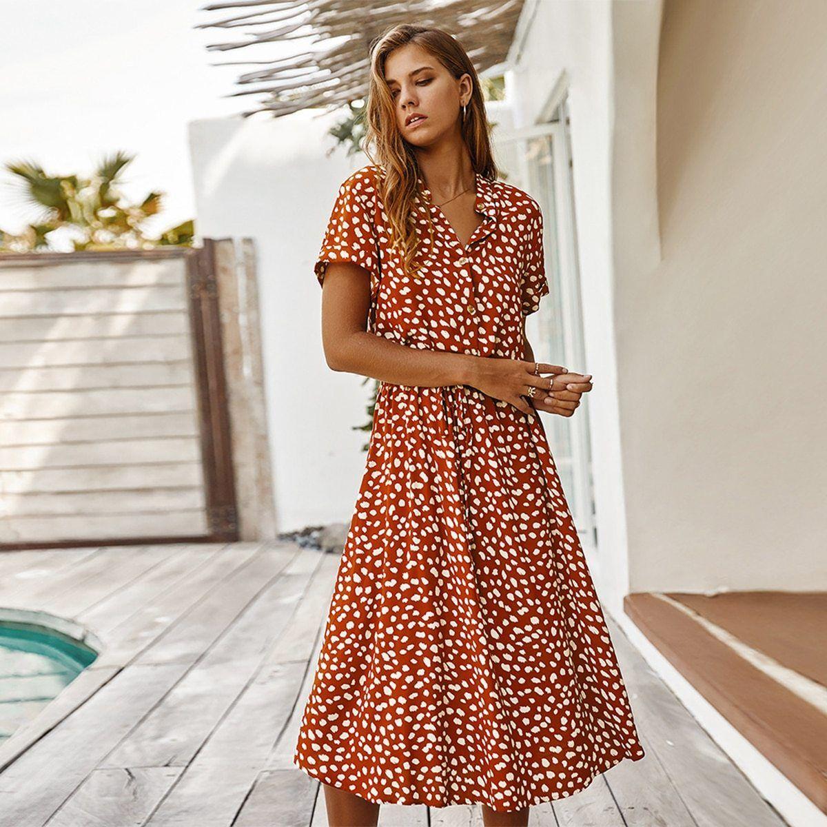 Tris Dress Midi Short Sleeve Dress Short Sleeve Summer Dresses Midi Dress Casual [ 1200 x 1200 Pixel ]