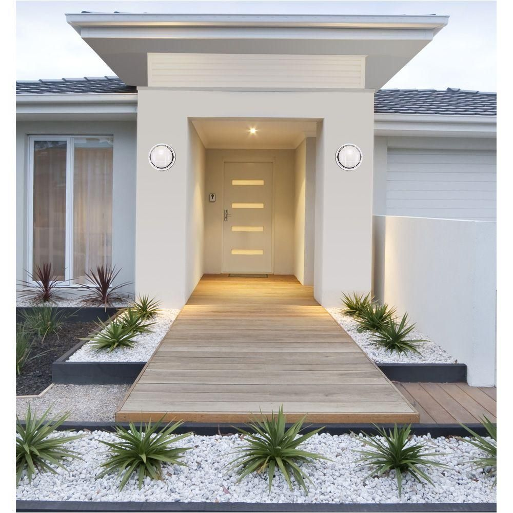 Exterior Home Design Software: Westinghouse 1-Light White Steel Exterior Wall Fixture