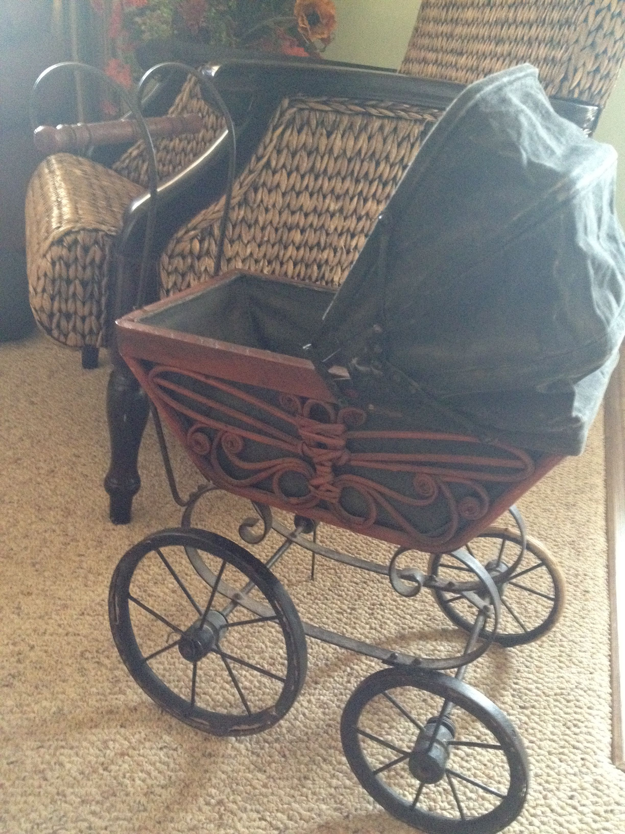 Awesome old stroller from the 1800's found by my husband