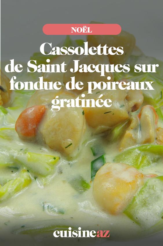 Cassolette de Saint-Jacques aux poireaux au Thermomix