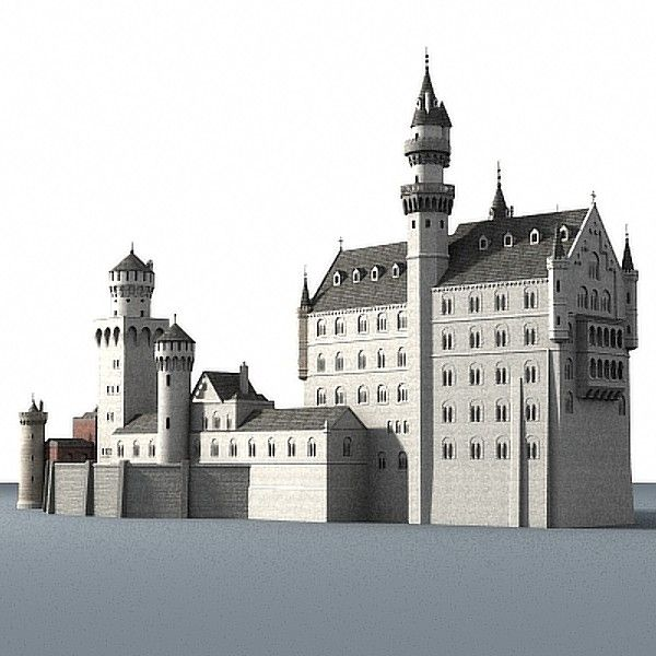 castle neuschwanstein 3d model