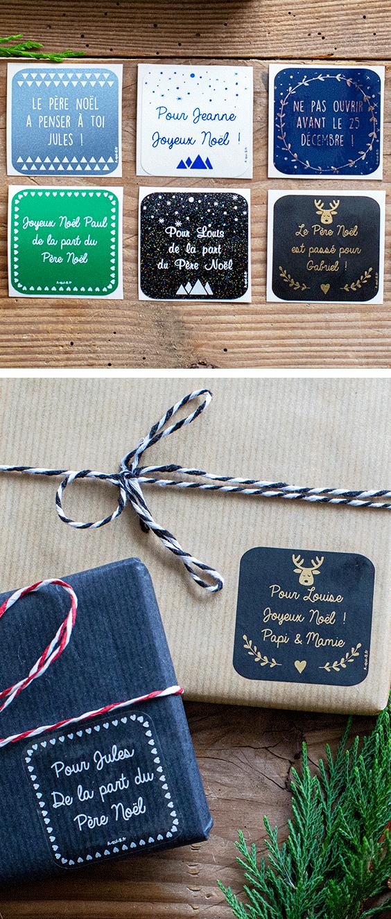 Les étiquettes de Noël personnalisables made in France livraison gratuite Pour embellir et apporter une jolie touche personnalisée à vos cadeaux...