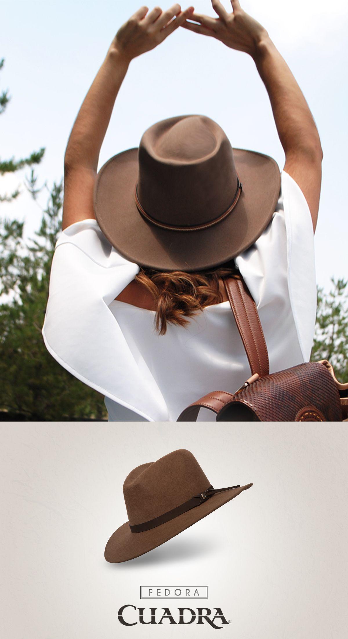 Sé tú misma con Cuadra.  sombrero  moda  mujer  ootd  69ad1492a32