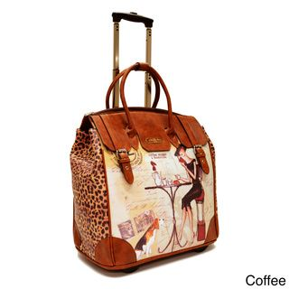 ca2bfdeaa9 Nicole Lee Special Print Rolling 16-inch Laptop Travel Bag