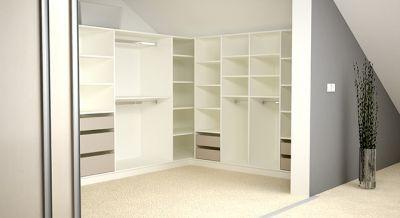 Deinschrank De Kleiderschranke Oder Ankleiden Fur Dachschragen Sind Auch Kein Problem Fur Uns Wie Hier Zuse Wandregal Modern Eck Bucherregal Zimmergestaltung