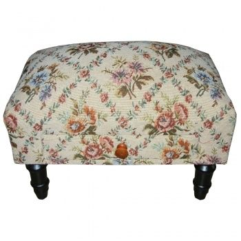 Tapestry Footstools   Tapestry Footstool with Drawer
