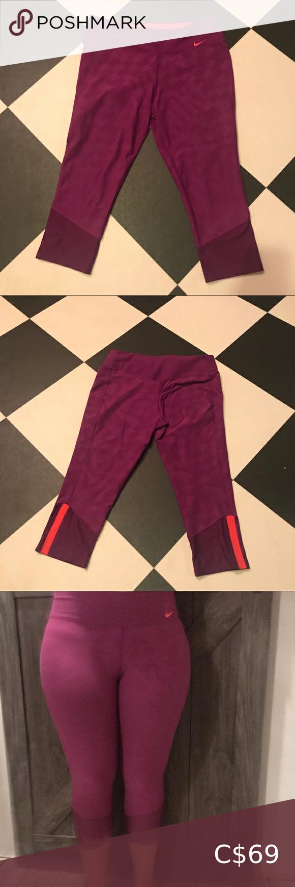 Nike Crop Purple | Front close sports bra, Pants for women ...