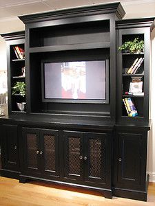 Entertainment Center Only In Natural Wood Color