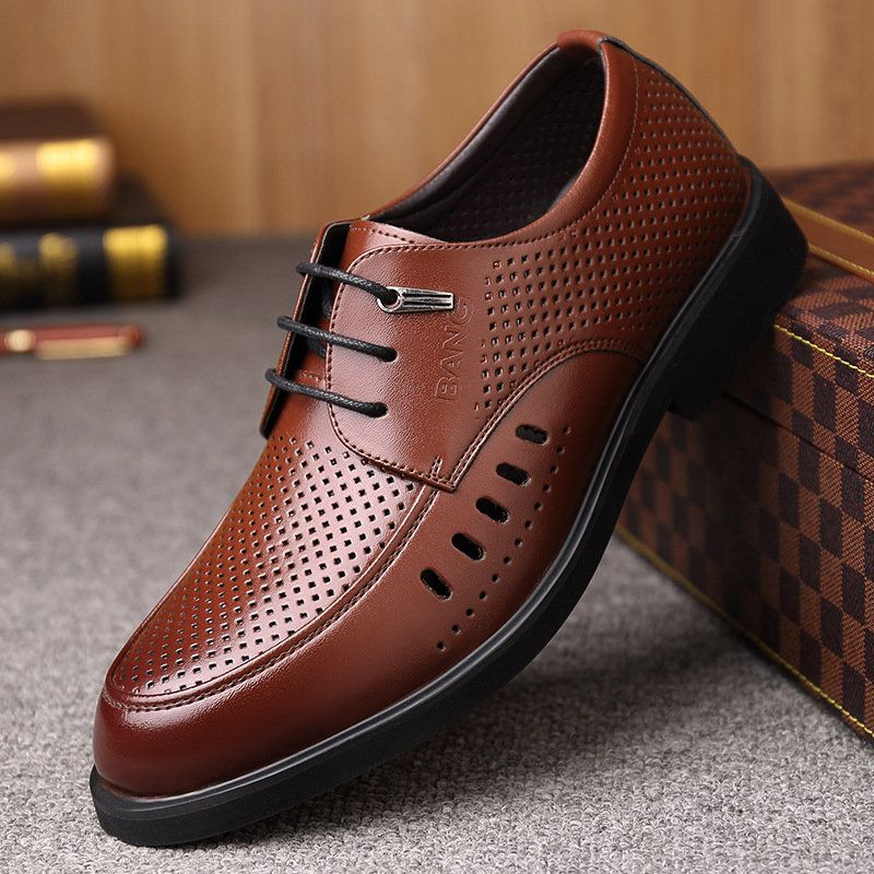 Men Hollow Out Breathable Comfy Lace Up