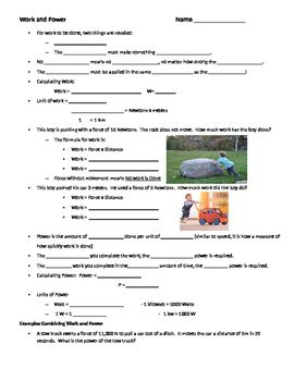 Guided Notes Worksheet And Practice Problems Including Solving For