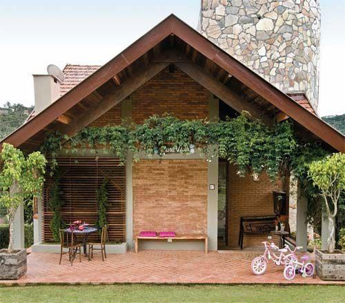 Casa tijolo a vista projetos para experimentar pinterest for Modelos de casas rusticas