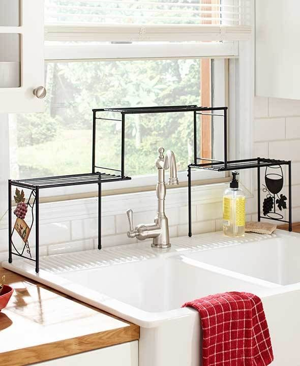 over the sink rack wine kitchen decor shelf space saver fit tall faucet unbranded kitchen on kitchen decor over sink id=62237