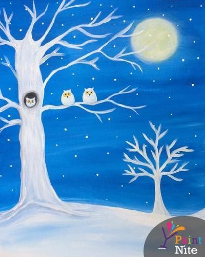 Image Result For Winter Canvas Painting Ideas Easy